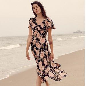Christy Dawn The Daisy Dress in Noir Begonia